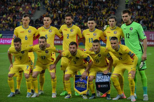 L'équipe de Roumanie, le 8 octobre.