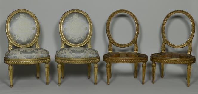 Ces faux sièges du XVIIIe siècle auraient été vendus notamment au château de Versailles.
