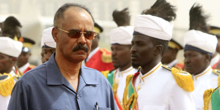 Le président érythréen Isaias Afewerki à Khartoum, le 21 juin 2015.