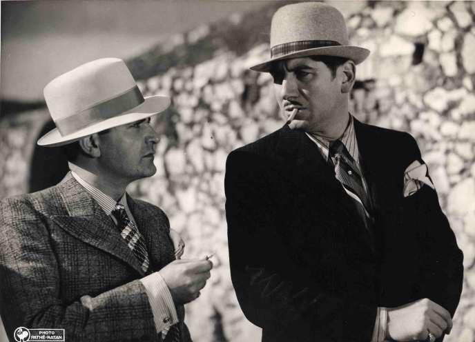 Alexandre Rignault (à gauche) etAntonin Berval (à droite) dans «Justin de Marseille», de Maurice Tourneur (1935).