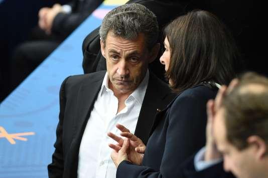 Nicolas Sarkozy lors du match d'ouverture de l'Euro de football, le 10 juin à Saint-Denis.