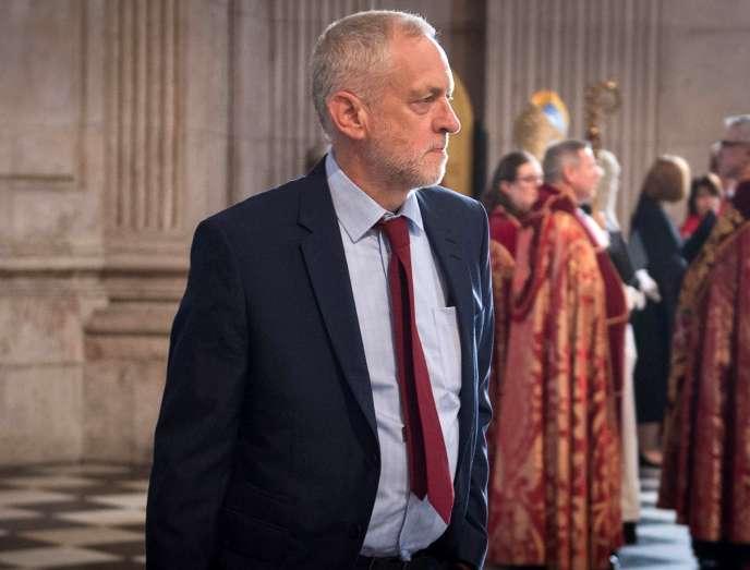 Jeremy Corbyn, le leader du Parti travailliste britannique, le 10 juin 2016 à Londres.