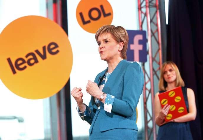 La chef de file du Parti national écossais, Nicola Sturgeon, à Londres, le 10 juin.
