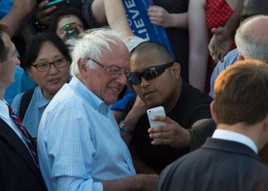 Bernie Sanders, qui a récolté 45% des suffrages lors des primaires démocrates, refuse encore d'abandonner la primaire démocrate à Hillary Clinton. Ici à Washington, le 9juin.