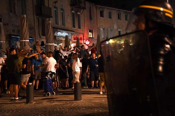 Des supporteurs anglais à Marseille, le 10 juin au soir.