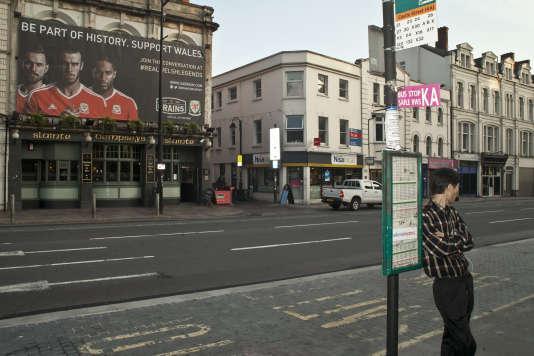 Dans le centre-ville de Cardiff, le 7 juin.