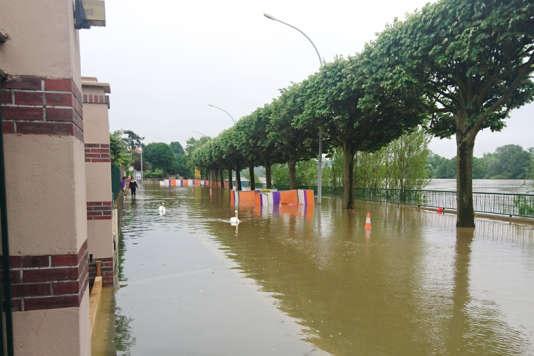 A Ablon-sur-Seine, dans le Val-de-Marne,   douze rues sur les bords de Seine ont été inondées début juin.