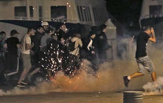 Lors des affrontements, dans la nuit du 11 juin à Marseille.