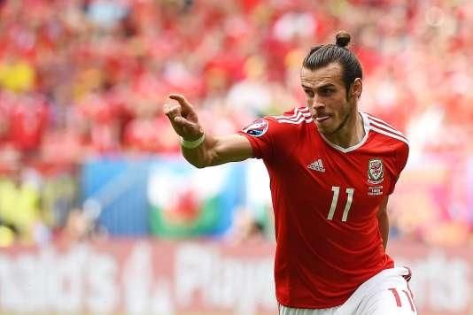 Le Gallois Gareth Bale célèbre son but face à la Slovaquie, samedi 11 juin à Bordeaux.