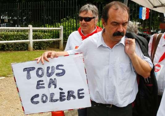 Le secrétaire générale de la CGT, Philippe Martinez, le 10 juin, à Villiers le Bel.