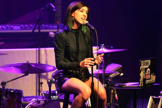 La chanteuse Christina Grimmie, lors d'un concert à Atlanta, le 2 mars 2016.