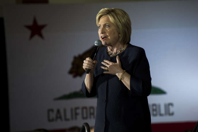 Hillary Clinton à San Francisco le 26 mai 2016.