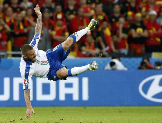 Daniele De Rossi, lors du match Belgique-Italie (0-2), le 13 juin, à Lyon.