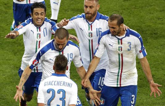 Emanuele Giaccherini a ouvert le score pour l'Italie lundi 13 juin à Lyon.