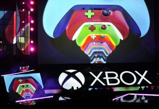 Présentation de la nouvelle console de Microsoft, à Los Angeles, lundi 13 juin