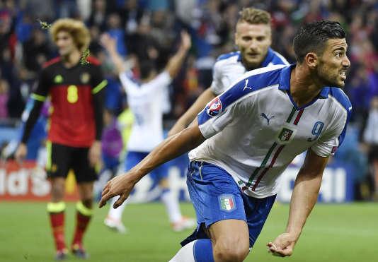 Graziano Pelle exulte après le 2e but italien.