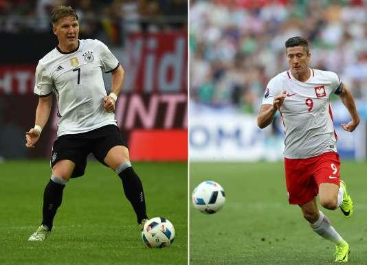 L'Allemagne de Bastian Schweinsteiger et la Pologne de Robert Lewandoswki s'affrontent jeudi au Stade de France.