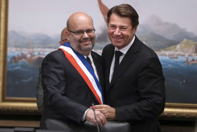 Christian Estrosi et Philippe Pradal, à Nice le 13 juin.