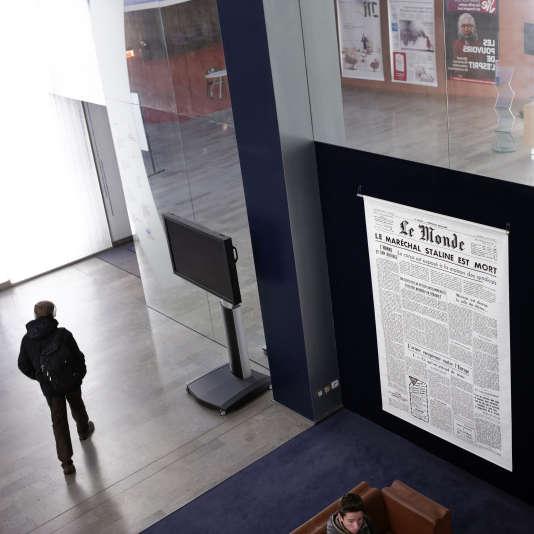 Au siege du journal le 17 decembre 2014.