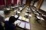 L'épreuve de philosophie du baccaulauréat au lycée Fustel de Coulanges à Starsbourg le 16 juin 2014.