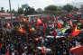 Manifestants timorais à propos de la frontière maritime entre le Timor oriental et l'Australie, à Dili, le22mars2016.