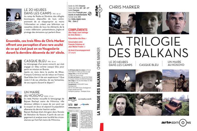 Jaquette du coffret DVD, « La Trilogie des Balkans», de Chris Marker.