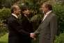 Patrick Braoudé, Pierre Santini et Safia Khalifa dans le film français de Pierre Courrège, « Un homme d'Etat».