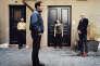 De gauche à droite, en partant du fond : Serge Bozon, cinéaste, Julie Desprairies, chorégraphe, Mehdi Zannad, musicien, et Vladimir Léon, cinéaste et producteur, auteurs du film «L'Architecte de Saint-Gaudens», à Paris, en juin 2016.