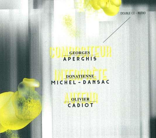 Pochette de l'album«Tourbillons et récitations», de Georges Aperghis.