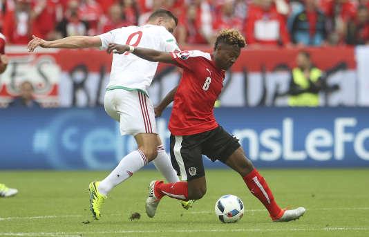 Lors du match Autriche-Hongrie, le 14 juin, à Bordeaux.