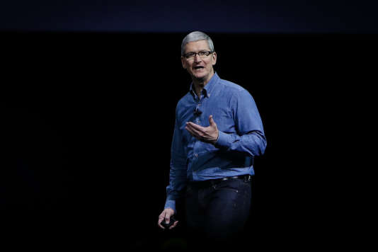 Le PDG d'Apple, Tim Cook, à San Francisco, le 13 juin 2016.