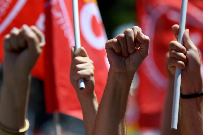 Manifestation contre le projet de réforme du code du travail, à Marseille, le 14juin.