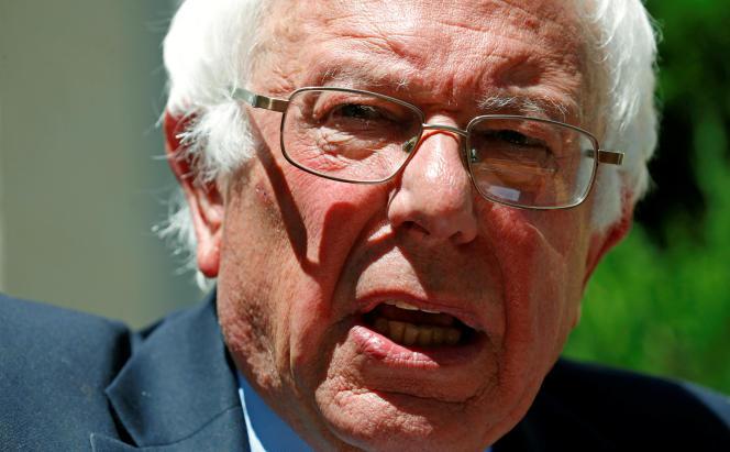Bernie Sanders à son QG de campagne à Washington, le 14 juin.