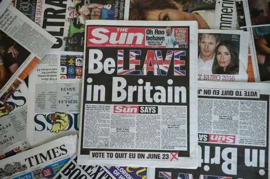 « The Sun» a officialisé mardi son soutien à un« Brexit».