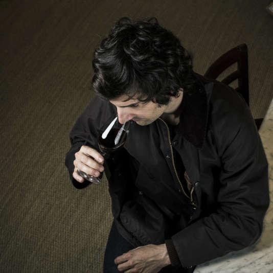 L'acteur et humoristephotographié chez De Vinis Illustribus, le 3 juinà Paris.