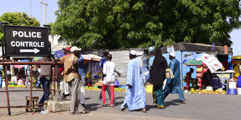 A la frontière de la Gambie et du Sénégal.