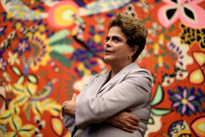 Dilma Rousseff à Brasilia, le 14 juin.