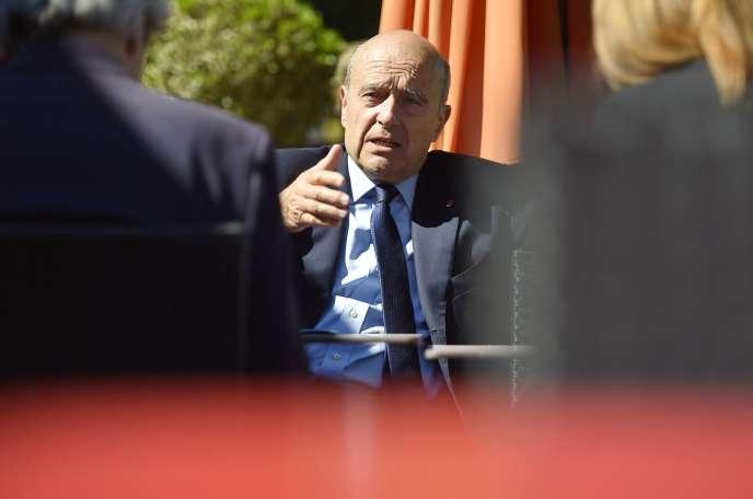 Alain Juppé, à Vannes, le 15 juin.
