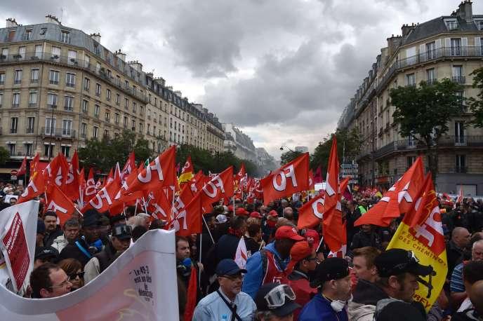 Manifestation à Paris le 14 juin contre le projet de lloi travail.