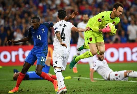 Lors du match France-Albanie au Stade Vélodrome, à Marseille le 15 juin.