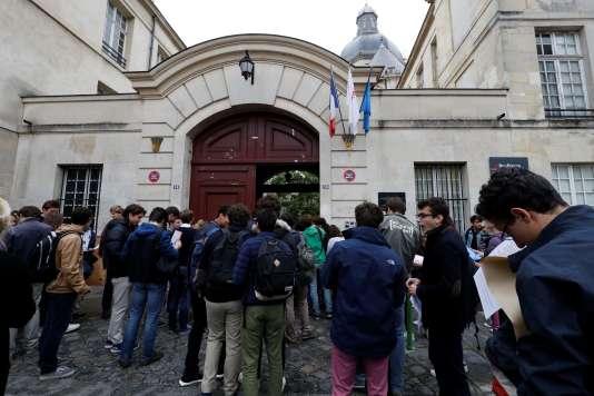 Le lycée Charlemagne, dans le 4e arrondissement de Paris.