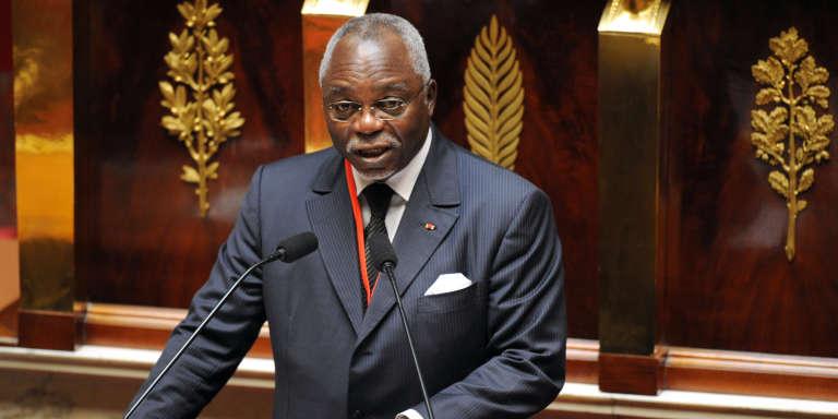 Guy Nzouba-Ndama, ancien président de l'Assemblée nationale, candidat aux élections présidentielles du 27 août 2016.