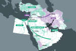 L'implantation des sunnites et des chiites au Moyen-Orient.