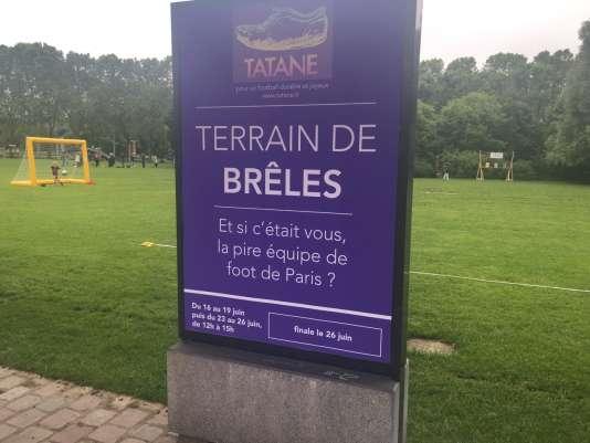 Les terrains du Tournoi de brêles organisé par l'associationTatane, à La Villette, à Paris.