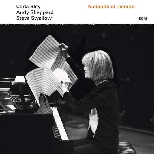 Pochette de l'album«Andando el Tiempo», de Carla Bley, Andy Sheppard et Steve Swallow.