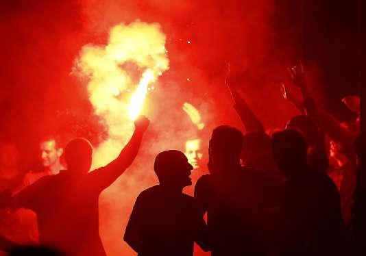 Supporteurs anglais à Lille le 15 juin.
