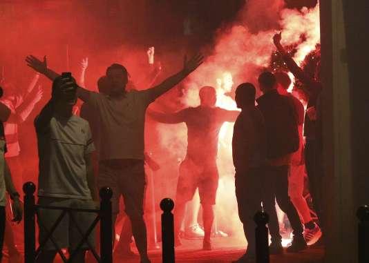 Des supporteurs anglais dans les rues de Lille, mercredi 15 juin.