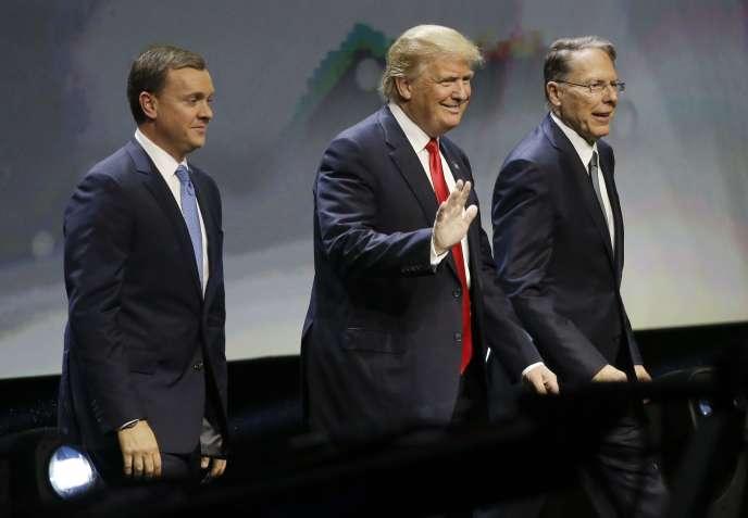 Donald Trump lors d'une conventionde la NRA à Louisville, le 20 mai.