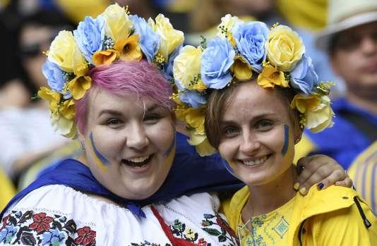 Des supportrices ukrainiennes jeudi au Parc OL.