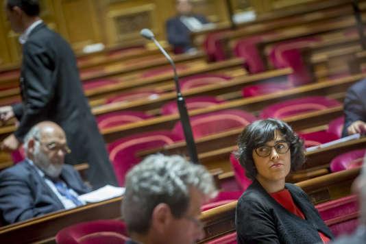 Myriam El Khomri, ministre du travail, participe au premier jour d'examen du projet de loi travail au Sénat à Paris, lundi13juin 2016.